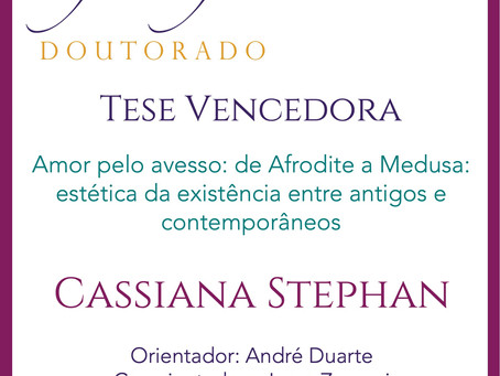 Prêmio Filósofas Destaque Acadêmico em Doutorado vai para Cassiana Lopes Stephan (PPGF-UFPR)