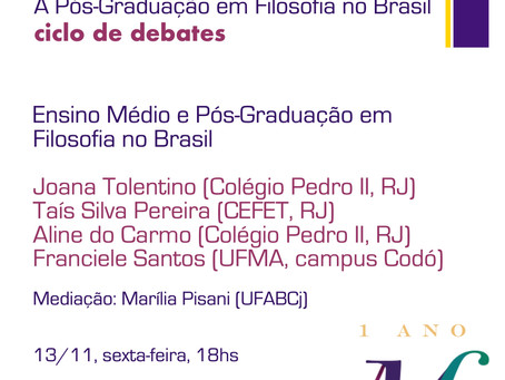 Ensino Médio e Pós-Graduação em Filosofia no Brasil
