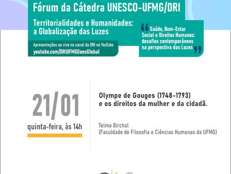 Olympe de Gouges e os direitos da mulher e da cidadã: Telma Birchal na Cátedra Unesco-UFMG/DRI