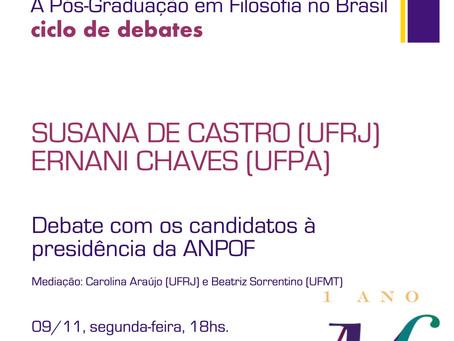 Debate com os candidatos à presidência da ANPOF