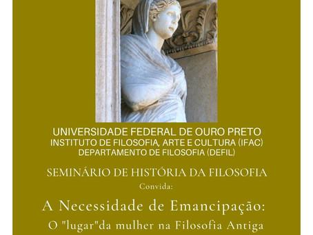"""O """"lugar"""" da mulher na Filosofia Antiga por Gislene Vale dos Santos (UFBA)"""
