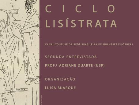 Ciclo Lisístrata: Entrevista com Adriane Duarte
