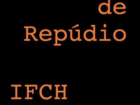 Nota de Repúdio do IFCH - UNICAMP
