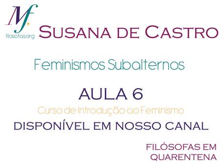 Feminismos subalternos por Susana de Castro: sexta aula do curso de Introdução ao Feminismo