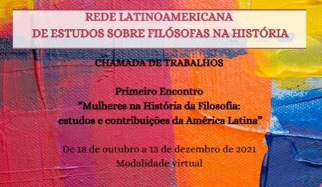Primeiro Encontro: Mulheres na história da filosofia: estudos e contribuições da América Latina