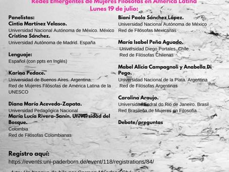 XVIII Simpósio Internacional da Associação de Mulheres Filósofas (IAPH): 18-21 Julho