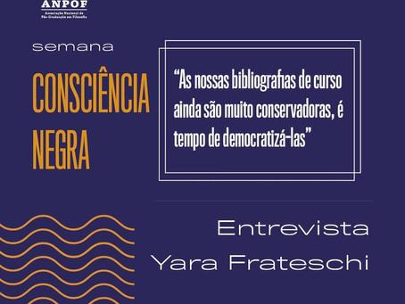 Entrevista com Yara Frateschi - Feminismo Negro