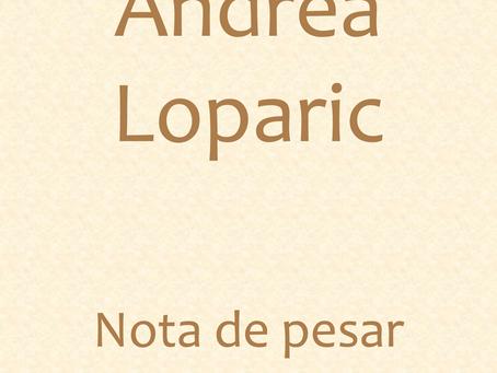 Andréa Loparic: Nota de pesar