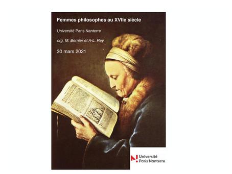 Jornada de Estudos de Mulheres Filósofas do século XVII: Paris Nanterre, 30 de março