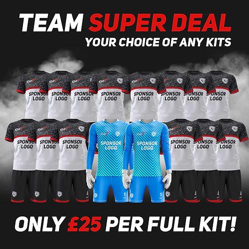 great value football team kit bundle
