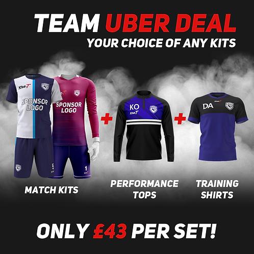 Great value custom football kit bundle