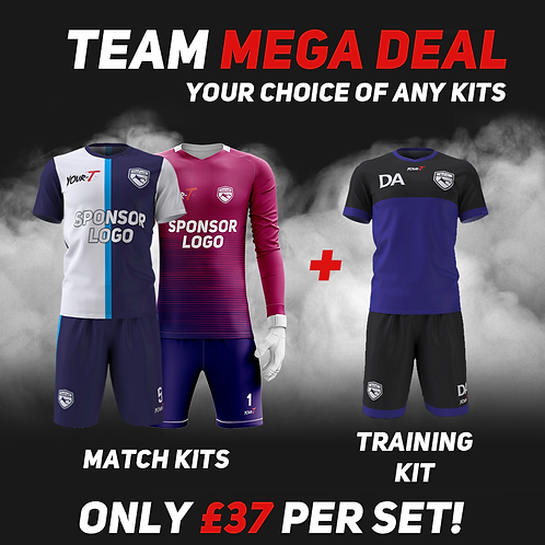 Great value football team bundle kits