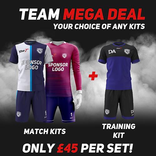 Great value football team bundle kits