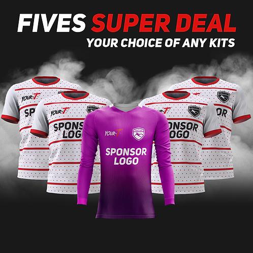 Great value five a side football kit bundle