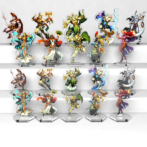 10 Large Size Acrylic Figurines