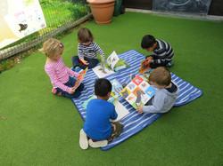 Children Reading at Lavendale