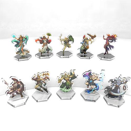 10 Standard Game Size Acrylic Figurines
