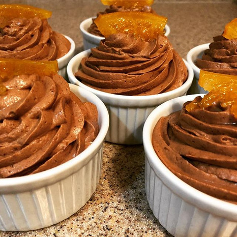 Ancho Chile and Orange Chocolate Mousse Cups