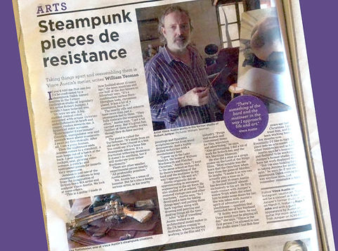 Steampunk artist Vince Austin makes headlines