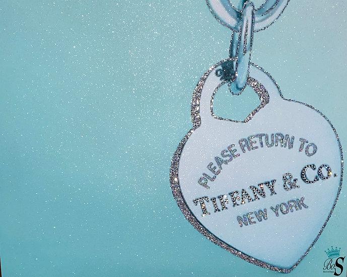 Tiffany&Co Glitter canvas, Any size.