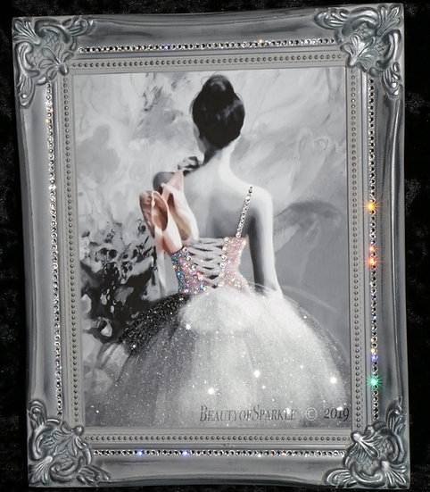 "Customised Sparkle Glitter canvas print ""Ballerina"", any size!"