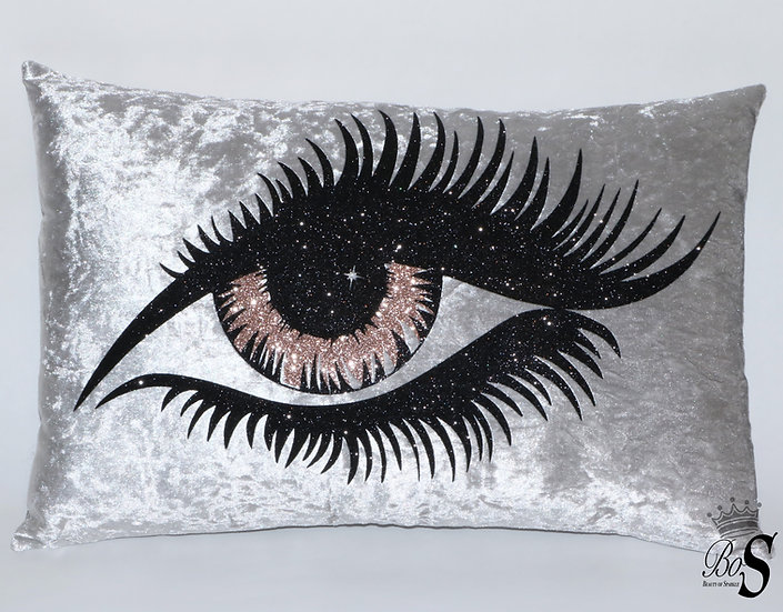 Eyelash Luxury velvet, Glitter Cushion. Any colour.