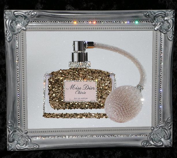 "Customised Sparkle Glitter canvas print ""Perfume"", any size!"