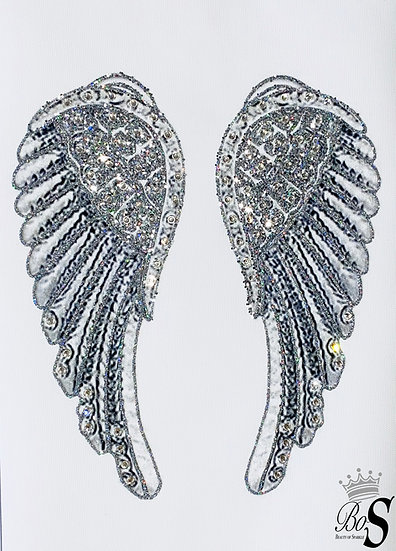 """Sparkle """"Angel Wings"""" Glitter canvas, Any size."""