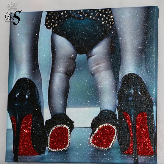"Glamour Sparkle Glitter ""Red Solo"" CANVAS PRINT wall art. Any Size!!"