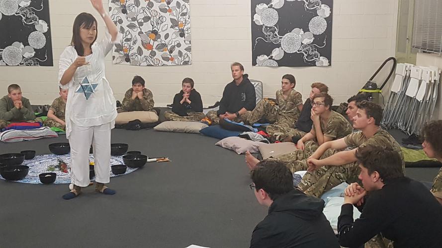 Healing Sound Meditation at Kids Camp