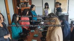 Enjoy the sound of 20 Singing RingⓇ bowls.