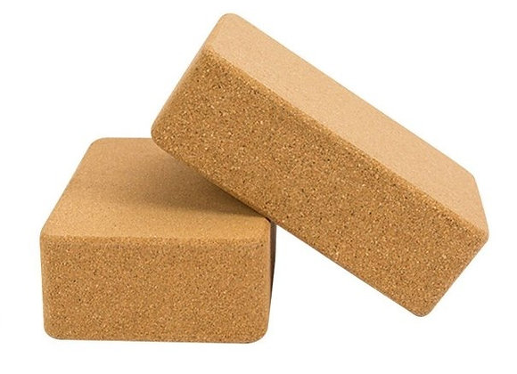 Stretch Daily Set: Eco-Friendly Cork Yoga Block and Strap Set