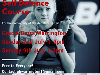 Free Two Day Self Defence Course for the Community of Greater Manchester! This July!