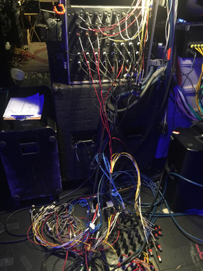 Oh you know... just a typical day patching cables on stage