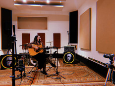 The Amazing Aiym Almas performing a Live Studio Session in one of our back Studios.