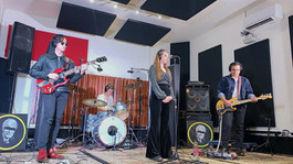 Sonorous Band getting ready for their next take for their Jung Records Live Session
