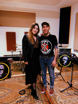 My great friend Aiym Almas and I after her amazing Live Session with us Last January 2020