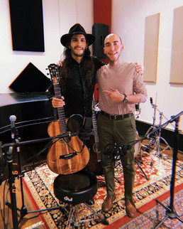 Photo with my good friend Drew Zaragoza after his Live Session Performance at our studio.