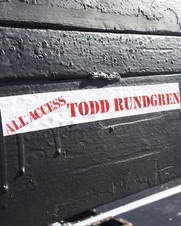 Working with Todd Rundgren during a run of shows for New Years time.