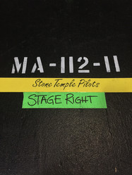 One of the Road Cases for STP the night I was working as a backline Tech for their show in Pasadena,CA