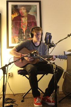 Good friend Alex De Blanc Recording some Acoustic Guitar and Vocals