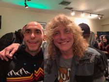 Hanging in the Green Room with Steven Adler from Guns N' Roses after doing sound on stage for him and his band earlier that night at The Whisky A Go Go