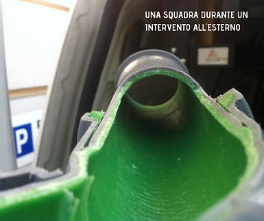Righetti Service SA sezione di tubo risanato con resina