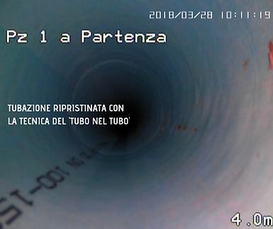 Righetti Service SA Immagineall'interno di un tubo risanato