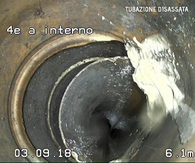 Righetti Service SA tubo disassato nel terreno