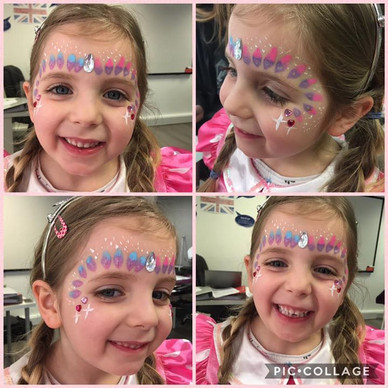 Face painting assessment. Lily loved it