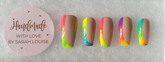 Summer Press-On Neon Ombre