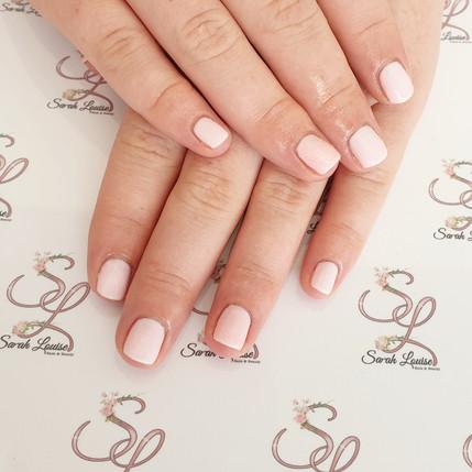 Beautiful Baby Pink Gel polish nails 💗💗
