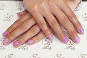 Beautiful Gel Polish Nails using Lilac & Fiesta 😍😍