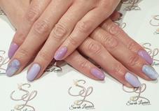 Purple & Marble effect Gel nails 💜💜